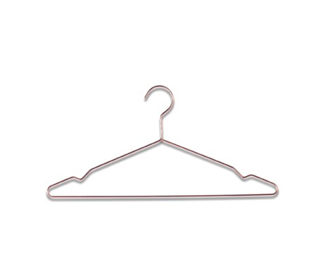 HAY Clothes hanger Hang copper steel set of 5 42x20cm