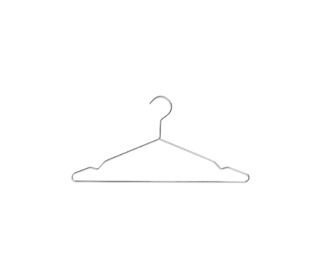 HAY Clothes hanger Hang silver steel set of 5 42x20cm