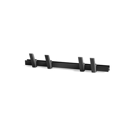 HAY Appendiabiti Beam alluminio nero legno 60cm