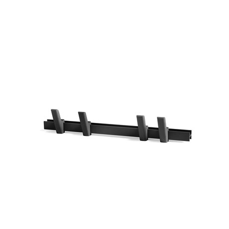 HAY Coat rack Beam black aluminum wood 60cm