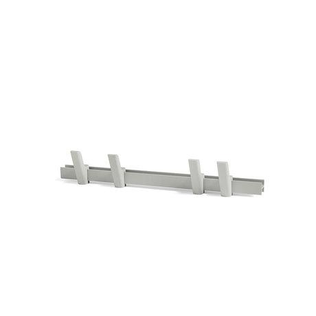 HAY Coat rack Beam light gray aluminum wood 60cm