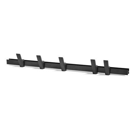 HAY Appendiabiti Beam alluminio nero legno 90cm