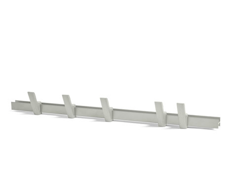 HAY Coat rack Beam light gray aluminum wood 90cm