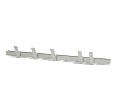 HAY Porte-manteau Beam bois aluminium gris clair 90cm
