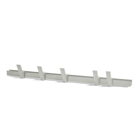 HAY Garderobe Träger hellgraues Aluminiumholz 90cm