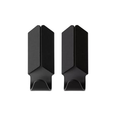 HAY Gancio a parete Volet alluminio nero set di 2 3.5x8cm