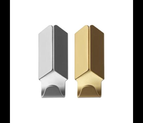 HAY Wandhaken Volet Gold Aluminium 2er Set 3,5x8cm