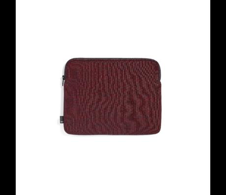 HAY Tablet-Hülle Reißverschluss rotes Textil 26,5 x 21,5 cm