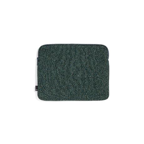 HAY Etui pour tablette Zip textile vert 26,5x21,5cm