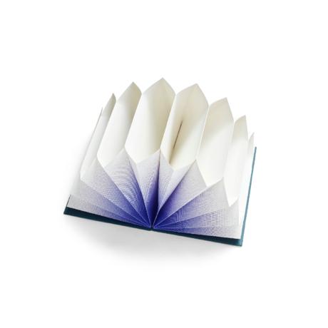 HAY Dossier plissé papier bleu 35x23cm