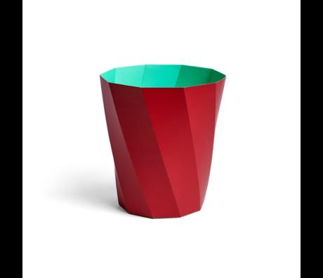 HAY Pattumiera Paper Bin 12L cartone rosso scuro Ø28x30,5cm