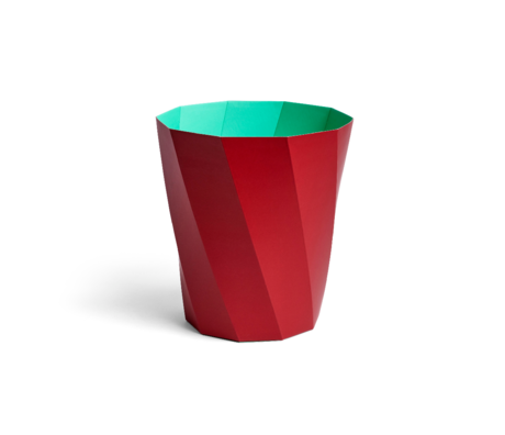 HAY Poubelle Paper Bin 12L carton rouge foncé Ø28x30.5cm