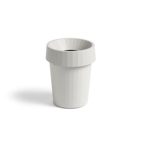 HAY Mülleimer Shade Bin 14L weißer Kunststoff Ø30x36.5cm