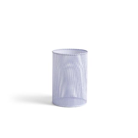HAY Trash can Perforated Bin M lilac metal Ø25x36cm