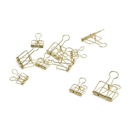 HAY Paper clip Outline gold steel set of 10