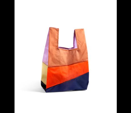 HAY Tasche Sechsfarbige Tasche L No4 Kunststoff Textil 37x71cm