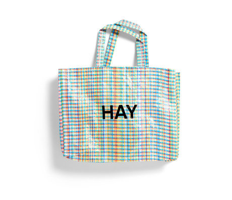 HAY Sac Multi Check M plastique multicolore 50x12x37cm