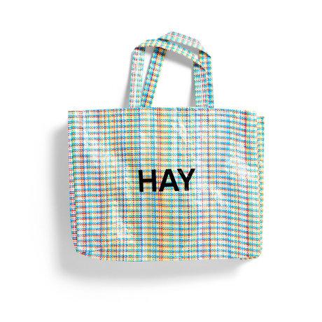 HAY Borsa Multi Check M multicolore in plastica 50x12x37cm