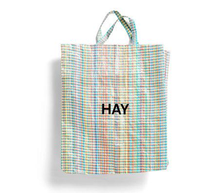 HAY Borsa Multi Check XL multicolore in plastica 64x28x70cm