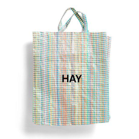 HAY Tasche Multi Check XL mehrfarbiger Kunststoff 64x28x70cm