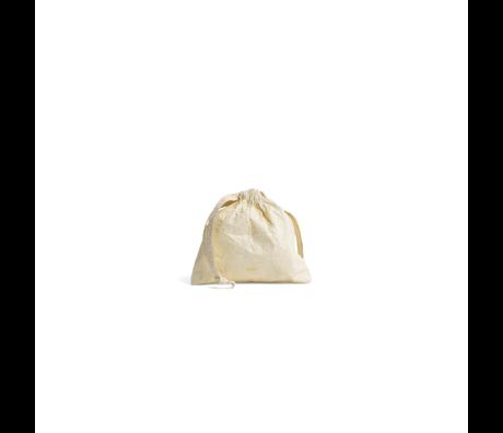 HAY Borsa portaoggetti Packing Essentials S plastica giallo chiaro 12x12cm