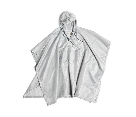 HAY Poncho Mono Rain in plastica grigio chiaro 127x100cm