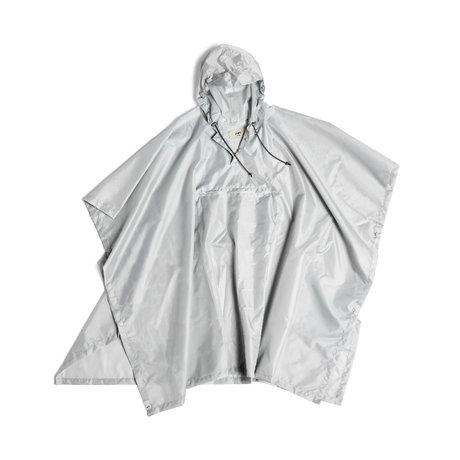 HAY Poncho Mono Rain de plástico gris claro 127x100cm
