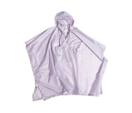 HAY Poncho Mono Rain de plástico lila 127x100cm