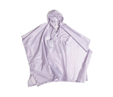 HAY Poncho Mono Rain plastique lilas 127x100cm