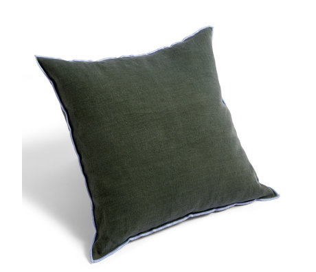 HAY Throw pillow Outline green textile 50x50cm