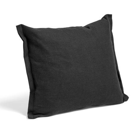 HAY Coussin Plica Tint textile noir 60x55cm