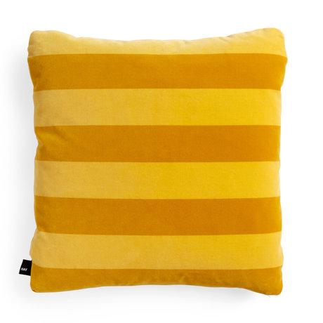 HAY Wurfkissen Soft Stripe gelbes Textil 50x50cm