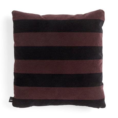HAY Kissen Soft Stripe braunes Textil 58x58cm