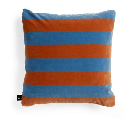 HAY Coussin décoratif Soft Stripe textile bleu clair orange 58x58cm