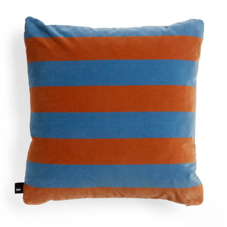 HAY Throw pillow Soft Stripe light blue orange textile 58x58cm