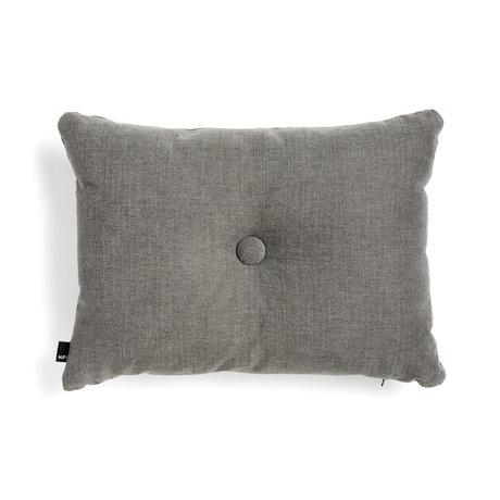 HAY Cojín decorativo Dot textil gris oscuro 60x45cm