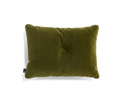 HAY Coussin Dot Soft textile vert 60x45cm