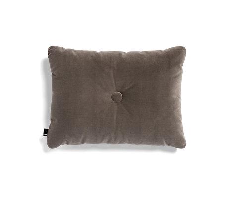 HAY Kissen Dot Weiches graues Textil 60x45cm