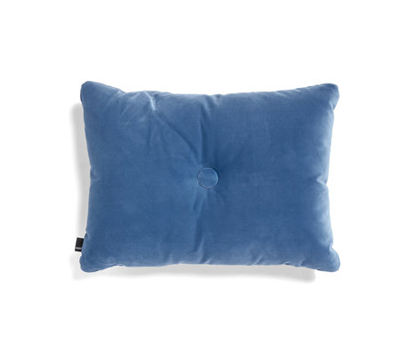 HAY Cuscino Dot Soft tessuto blu 60x45cm