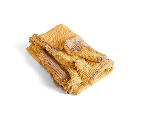 HAY Plaid Crinkle Stripe gelbe Baumwolle 210x150cm