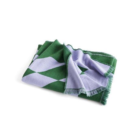 HAY Plaid Star lilac green wool 180x130cm