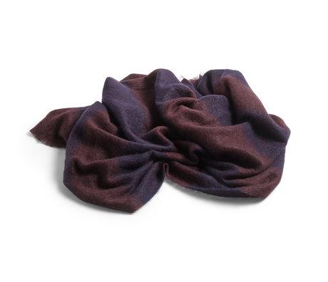 HAY Plaid Mohair dark blue wool 180x120cm