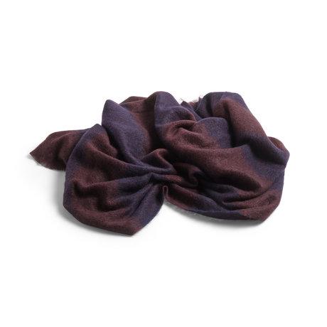 HAY Plaid Mohair dunkelblaue Wolle 180x120cm
