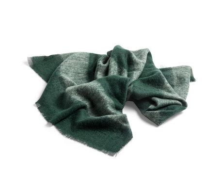 HAY Plaid Mohair green wool 180x120cm