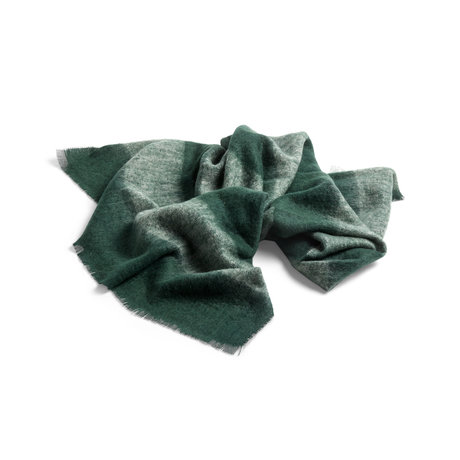 HAY Lana verde mohair cuadros 180x120cm