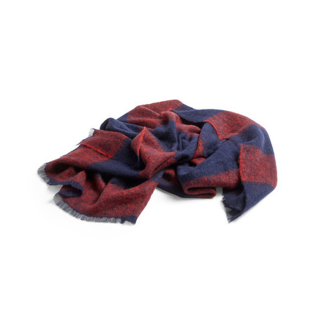 HAY Karierte Mohair rote Wolle 180x120cm