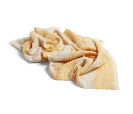 HAY Karierte Mohair gelbe Wolle 180x120cm