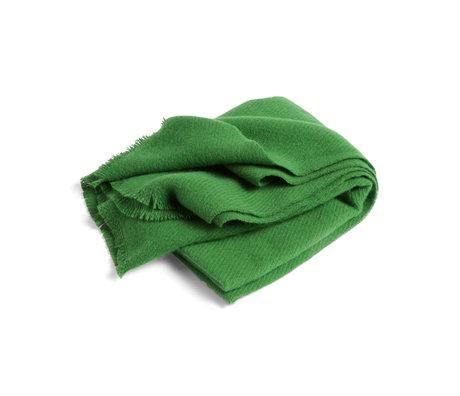HAY Plaid Mono lana verde 180x130cm