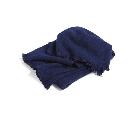 HAY Plaid Mono dark blue wool 180x130cm