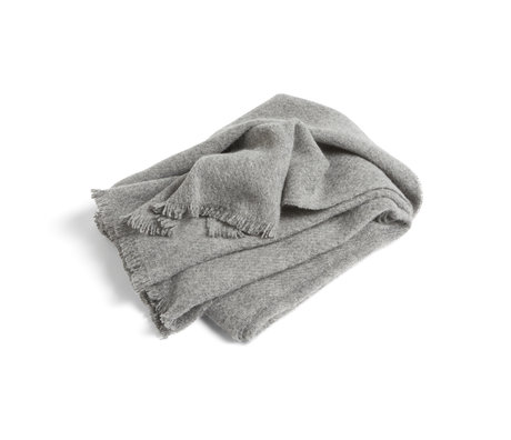 HAY Plaid Mono gray wool 180x130cm